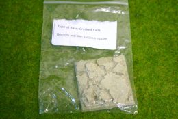 50mm x 50mm Square Resin Base Cracked Earth for Fantasy of Sci-Fi RPG games