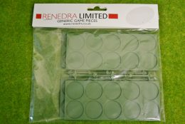 Renedra PLASTIC MOVEMENT TRAYS PACK OF 4 for 25mm ROUND bases