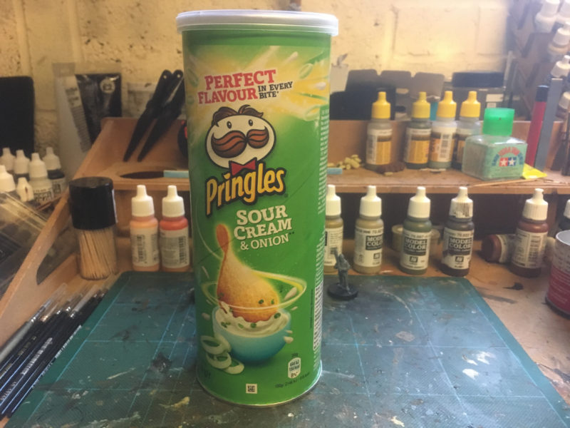 Pringles tube! First task is to empty it!