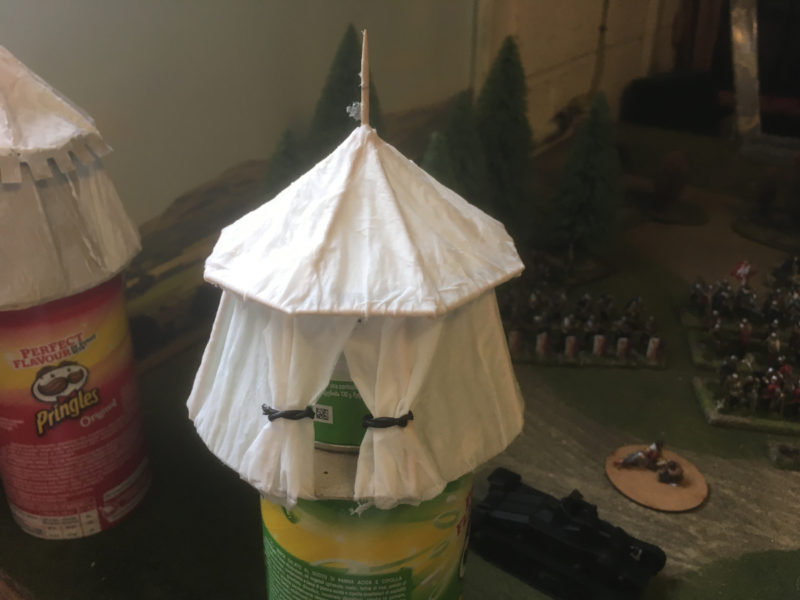 Tent with tissue added to the roof