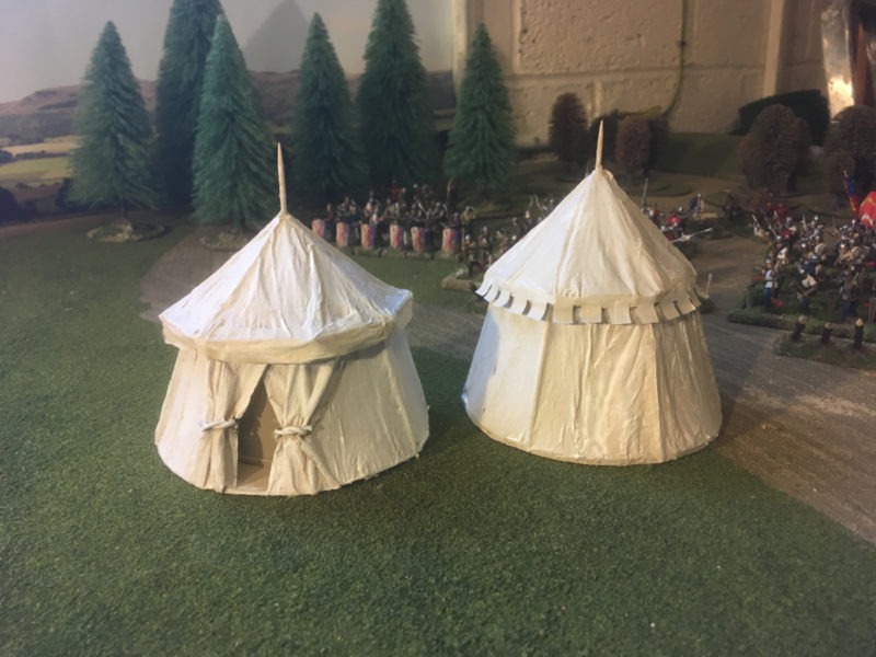 The two tents primed and ready for painting.