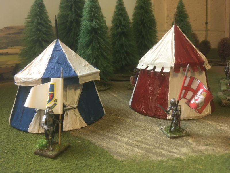 The painted tents