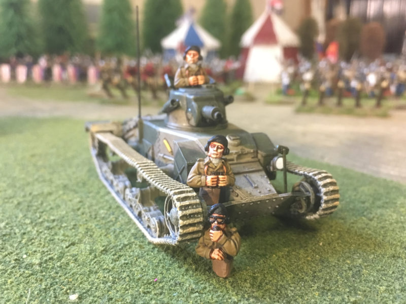 Matilda Mk 1 and tank commanders