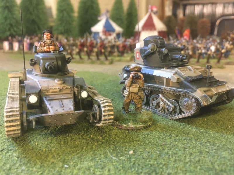 Matilda Mk1 and Vickers MkVIb