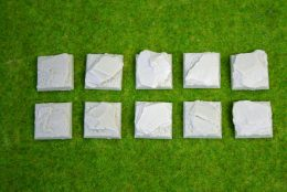 25mm x 25mm Square Resin Base Slate for Fantasy of Sci-Fi RPG games