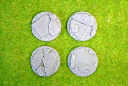 40mm ROUND FLYING Resin Base Slate for Fantasy of Sci-Fi RPG games