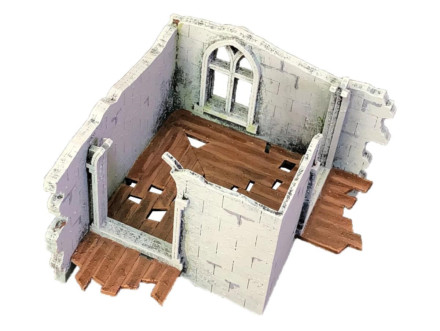 LEVEL 1 TOWER CORNER WITH WINDOW AND WALKWAYS (STACKABLE) FG25 (28mm) Sarissa Precision