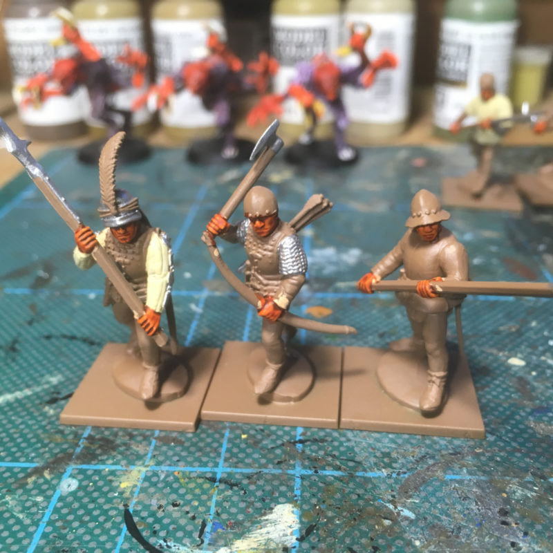 More of the retinue in progress