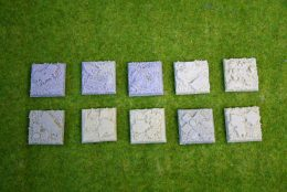 25mm x 25mm Square Resin Base Celtic Graveyard for Fantasy of Sci-Fi RPG games