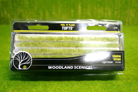 Light Green Edging Strips Woodland Scenics S780