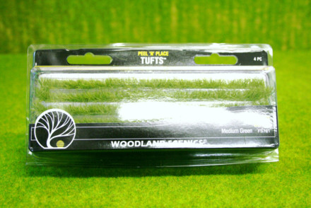 Medium Green Edging Strips Woodland Scenics S781