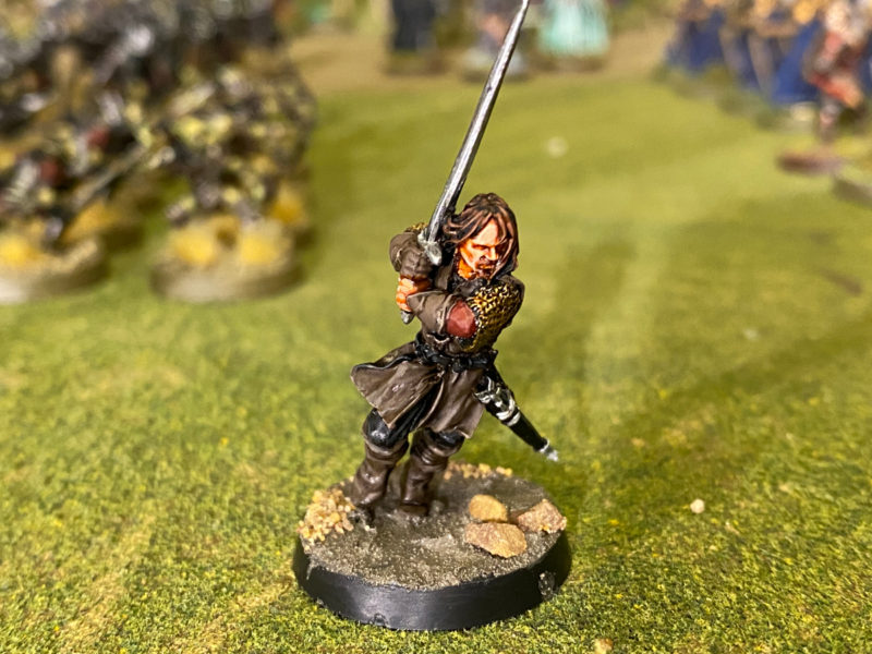 Aragorn! Issue 6. Basing not quite finished!