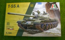 T-55A Medium Tank Italeri 1/72 kit 7081