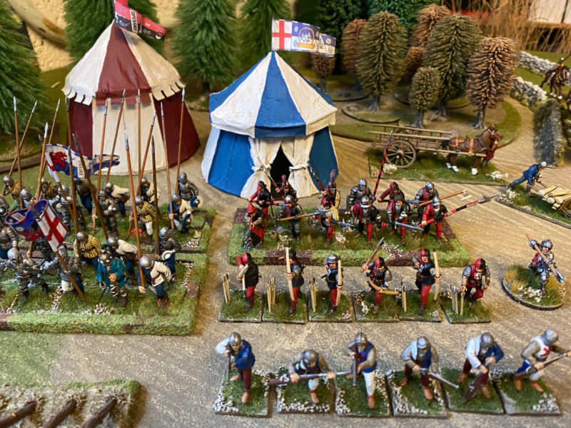 Lord Callans retinue takes it's place in my army.