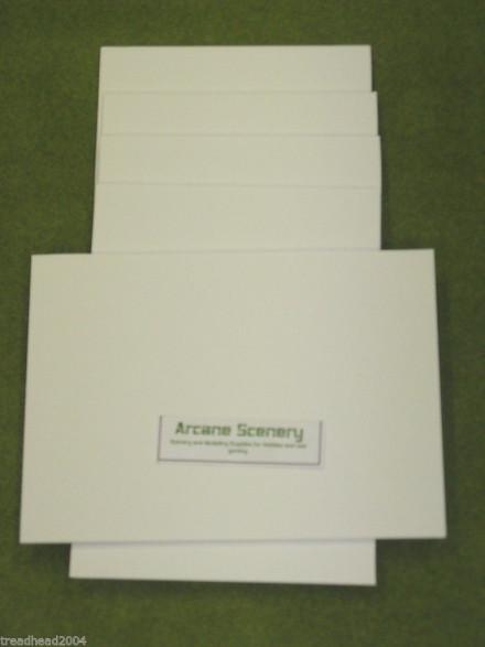 10 sheets of A3 WHITE FOAM BOARD 5mm Terrain & Scenery