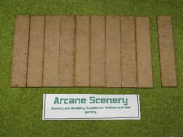 100mm x 25mm LASER CUT MDF 2mm Wooden Bases for Wargames