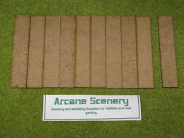 100mm x 20mm LASER CUT MDF 2mm Wooden Bases for Wargames