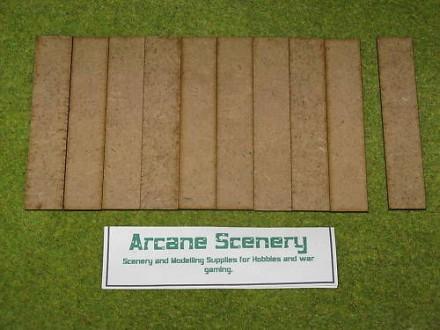 100mm x 20mm LASER CUT MDF 2mm Wooden Bases for Wargames