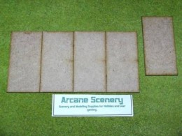 100mm x50mm LASER CUT MDF 2mm Wooden Bases for Wargames