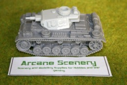 1/48 scale – 28mm WW2 GERMAN PANZER III Ausf. N resin tank Blitzkrieg miniatures