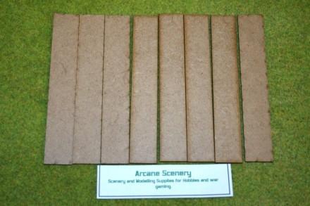 150mm x 25mm LASER CUT MDF 2mm Wooden Bases for Wargames