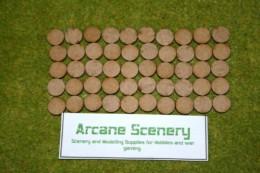 15mm ROUND LASER CUT MDF 2mm Wooden Bases or BATTLE MARKERS for Wargames