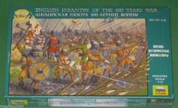 1:72 Scale ENGLISH INFANTRY 100 years war Zvezda 8060