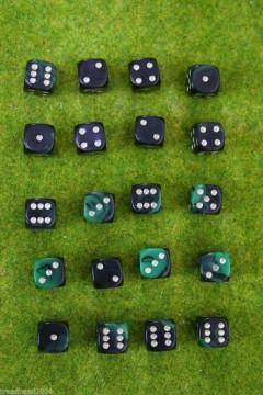 20 x 12mm DICE green Oblivion