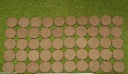 25mm ROUND LASER CUT MDF 2mm Wooden Bases for Wargames