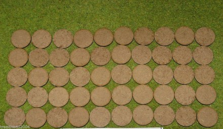 25mm ROUND LASER CUT MDF 2mm Wooden Bases for Wargames