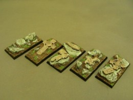 25mm x 50mm Cavalry Resin Base Celtic Graveyard for Fantasy of Sci-Fi RPG games