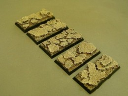 25mm x 50mm Cavalry Resin Base Cracked Earth for Fantasy of Sci-Fi RPG games