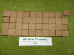 25mm x 25mm LASER CUT MDF 2mm Wooden Bases for Wargames
