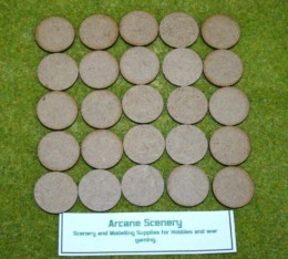 30mm ROUND LASER CUT MDF 2mm Wooden Bases for Wargames