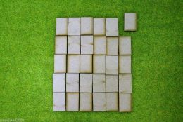 30mm x 20mm LASER CUT MDF 2mm Wooden Bases for Wargames
