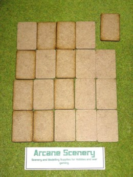 32mm x 50mm LASER CUT MDF 2mm bases will suit FOW game