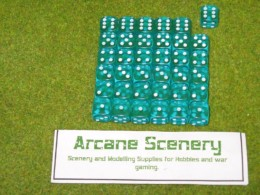 36 x 12mm AQUA GEM DICE For Wargames & Games Workshop