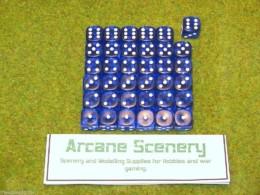 36 x 12mm BLUE GEM DICE For Wargames & Games Workshop