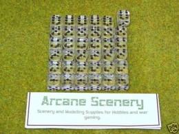 36 x 12mm CLEAR GEM DICE For Wargames & Games Workshop