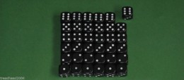 36 x 12mm DICE Black For Wargames & Games Workshop