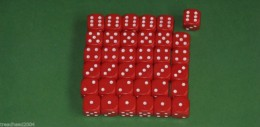 36 x 12mm DICE Red For Wargames & Games Workshop