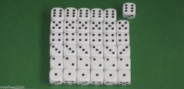 36 x 12mm DICE White For Wargames & Games Workshop