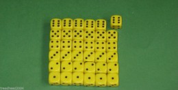 36 x 12mm DICE Yellow For Wargames & Games Workshop