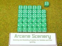 36 x 12mm GREEN DICE For Wargames & Games Workshop