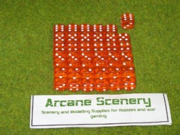 36 x 12mm ORANGE GEM DICE For Wargames & Games Workshop