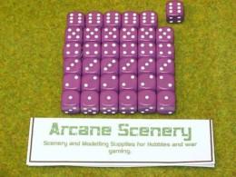 36 x 12mm PURPLE DICE For Wargames & Games Workshop