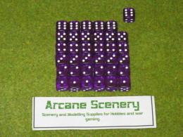 36 x 12mm PURPLE GEM DICE For Wargames & Games Workshop