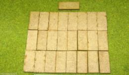 45mm x 20mm LASER CUT MDF 2mm Wooden Bases for Wargames