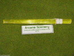 4mm YELLOW Transluscent Light Gathering Rod pack of 10