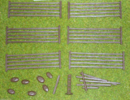 FENCES – 5 BAR FENCES Renedra Wargames Scenery &  Terrain 28mm
